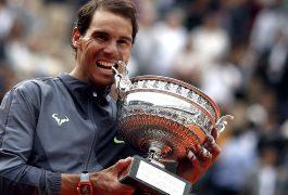 ASÍ festejó Rafael Nadal al ganar nuevamente el Roland Garros