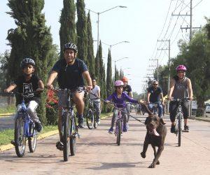 Celebran la primera Rodada Familiar en Corregidora