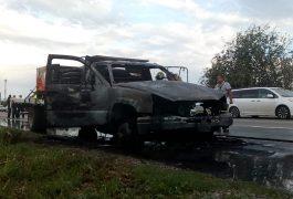 Se incendia camioneta de carga en la 57