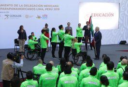 Abandera AMLO a los Parapanamericanos