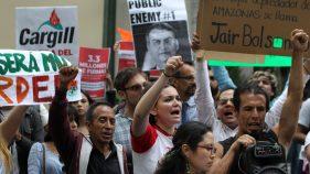 Protestan en CDMX por incendios en la Amazonía brasileña