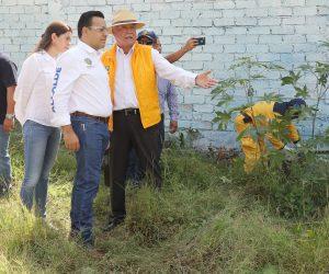 Inicia Luis B. Nava programa de limpieza de predios baldíos